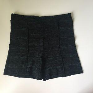 FP Spun Black High Waisted Knit Shorts Size Large
